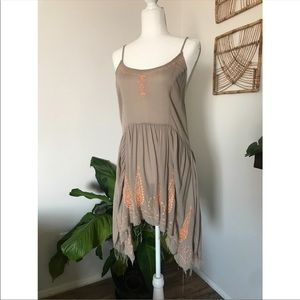 Intimately Free People glitter embroider tunic